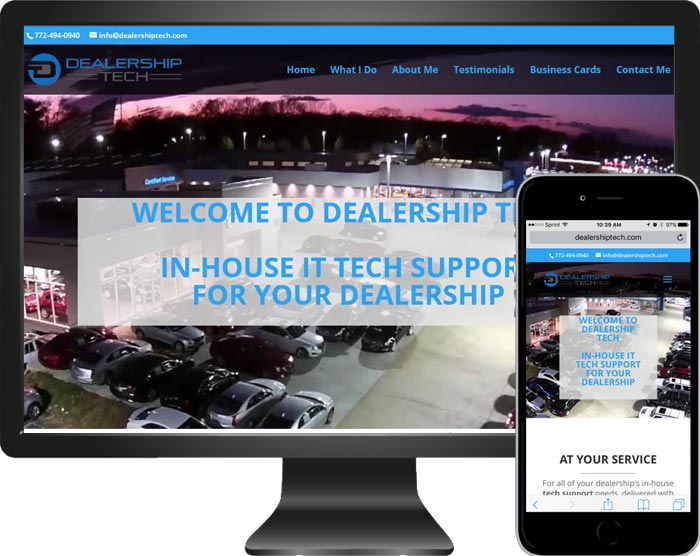 New website launched Dealership Tech Support