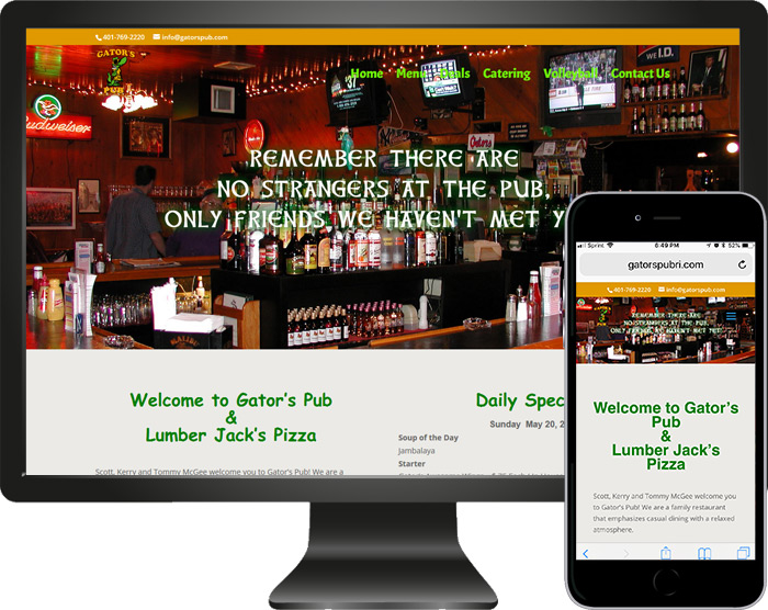 New Website Launched Gator's Pub