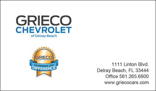 Business Card Redesign the Grieco Automotive Group